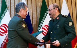 Министр обороны Ирана во время визита в Россию