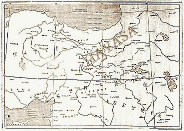 Древняя карта Hayasa