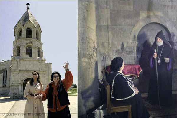 Монсеррат Кабалье и Архиепископ Карабахский Паркев 2