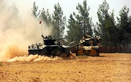 Турки обстреливают курдские села