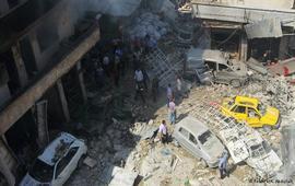В результате бомбардировок в провинции Алеппо