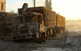 Атака на гуманитарный конвой в Сирии