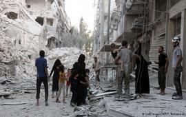 Из - за авиаударов по Алеппо