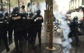 Cтолкновения в Париже на демонстрации