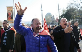 Анироссийские митинги в Стамбуле