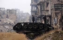 Алеппо: Огонь прекратился, но ненадолго