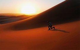 На лыжах по песку