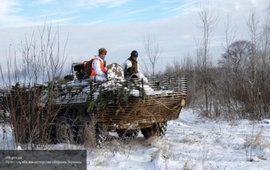 Хроника Донбасса: дрон-разведчик над Горловкой