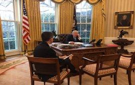 Hазговор Трампа и Путина завершен