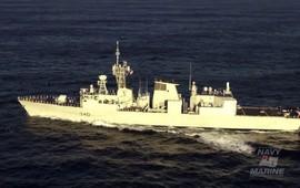 Канадский фрегат в Черном море