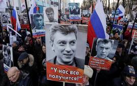 В Москве прошел марш памяти Немцова