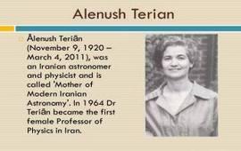 Аленуш Терян – мать иранской астрономии