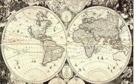 Первая печатная карта мира 1695г - На армянском