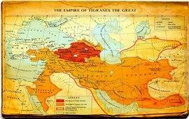 Карта территории Армянской империи