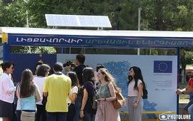 Гелиопанели для зарядки гаджетов в Ереване