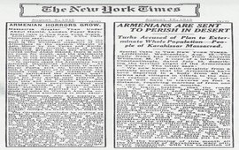 The New York Times - 1915 - Статьи о Геноциде армян