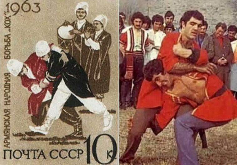«Кох» (Կոխ) - один из древнейших национальных видов борьбы Армении. Впервые об этом виде спорта упоминается в древних персидских рукописях, относящихся к V-II тыс. до н.э. , в которых неоднократно подчёркивалось, что родиной «коха» является Армения.