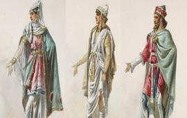 Эскизы древних армянских костюмов