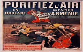 Французский рекламный плакат Papier d'Arménie - 1880-1890