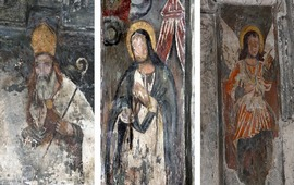 Фреска из армянского монастыря 13-го века
