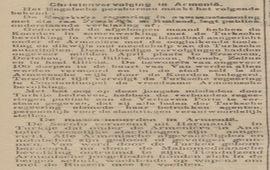 Сообщение об армянской резне в голландской газете