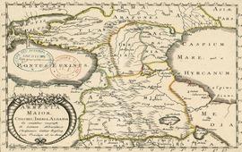 Карта Великой Армении, Колхиды, Иберии, Албании 1655 год