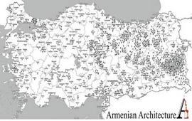 Карта Армянских Церквей до геноцида