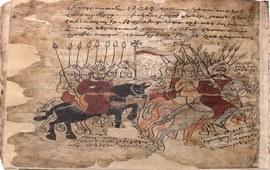 Мушег Мамиконян и царь Папа празднуют победу