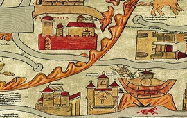 Карты мира XIII века - Арарат и Ноев Ковчег
