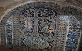 Синяя керамика в армянской церкви Иерусалима