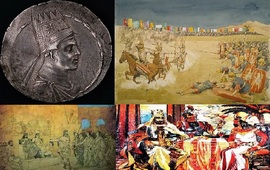 Моление царя - Историческая сцена
