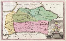 Карта Кавказа К. Вфйгель 1720