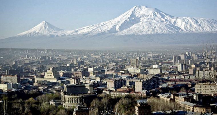 Вид на гору Арарат и Ереван