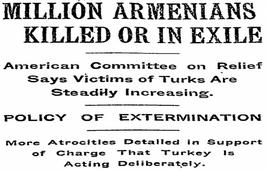 Международная пресса о массовых убийствах и депортации армян