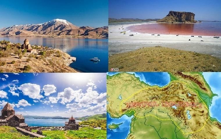 Если соединить прямыми линиями три крупнейших озера Армянского нагорья – Капутан (Урмия), Ван (Тосп, Бзнунеац) и Севан (Гегама), получится гигантский треугольник, по форме напоминающий сердце. Это действительно самое сердце нагорья, разорванное на части. Соленый Капутан, заполняющий впадину между Иранским и Армянским плоскогорьями, солон настолько, что в нем не водится рыба. Второе озеро, самое щелочное на планете, – синий красавец Ван, одно название которого вызывает в армянах старшего поколения щемящее чувство тоски по утраченному Еркиру. И лишь запертый в амфитеатре скал Севан отражает солнце над сегодняшней Арменией. Здесь Малый Кавказ словно размыкается и, окольцевав озеро, смыкается вновь. Было время, когда на месте озера расстилалась цветущая долина, а к долине с вершин хребта мчалась бурная Илдаруни (Зангу, Раздан). Но кипевшая внутри горы раскаленная лава вырвалась из кратера и залила долину. Лава преградила течение Илдаруни и застыла, заперев выходы из долины. Речные потоки постепенно затопили ее и образовали озеро длиной в 75 километров, но самой Илдаруни удалось «выбежать» из озера и направиться в сторону Араратской долины. Читатель задаст резонный вопрос: откуда известно, что это именно Илдаруни? На вопрос отвечает само озерное дно, сохранившее следы изначального русла реки, которая в те времена была втрое длиннее нынешней. В результате возникновения лавовых запруд на дне Севана образовались озерные отложения, обладающие свойством артезианских колодцев. На этом основании Севан считается многоэтажным озером, иначе говоря, под ним скрыто еще несколько «севанов». Глубина верхнего севанского «этажа» равняется 99 метрам. Бытует мнение, что покоящийся на высоте 1916 метров Севан – самое высокогорное озеро планеты, но это не совсем так. Четыре озера – в Южной Америке (Титикака и Поопо) и Центральной Азии (Тенгринор и Кукунур) – превосходят Севан по высоте и площади зеркала воды. Однако все они соленые. Севан же является самым высокогорным среди пресноводных. В