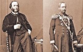 Айвазовский и Бебутов в фотографическом альбоме