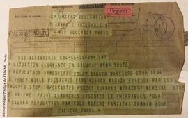 Телеграмма Забел Есаян Погосу Нубару