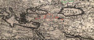 Фрагмент первой карты мира