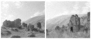 Армянская базилика на склоне горы Арарат