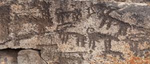 Древние наскальные рисунки в Карсе