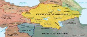 Карта Армении до войны Рима