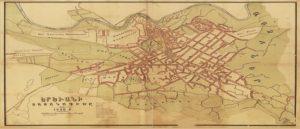 Карта Еревана времен Первой