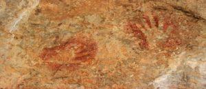 Древние отпечатки ладоней