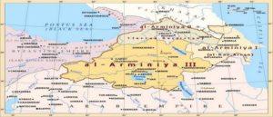 Карта деления Армянского эмирата