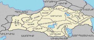 Карта Великой и Малой Армении
