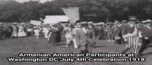 Редкие кадры участия армян в параде