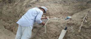 В Мартакерте найдена плиточная гробница