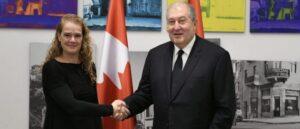 Президент Армении поблагодарил Канаду