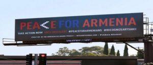 Рекламные щиты Лос-Анджелеса призывают к признанию Арцаха
