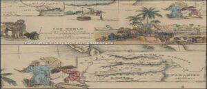 Рай в Армении - Библейская карта 1856 года